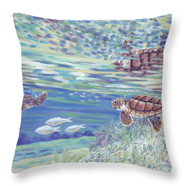 Boy Meets Girl Throw Pillow by Danielle  Perry