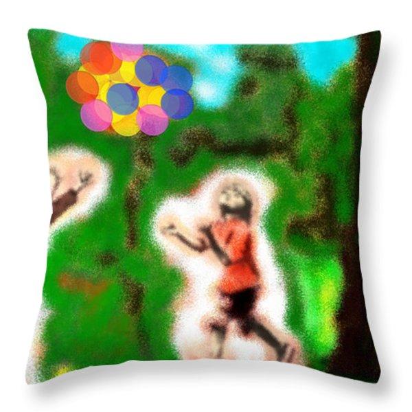 Boys Throw Pillow by Ilias Athanasopoulos