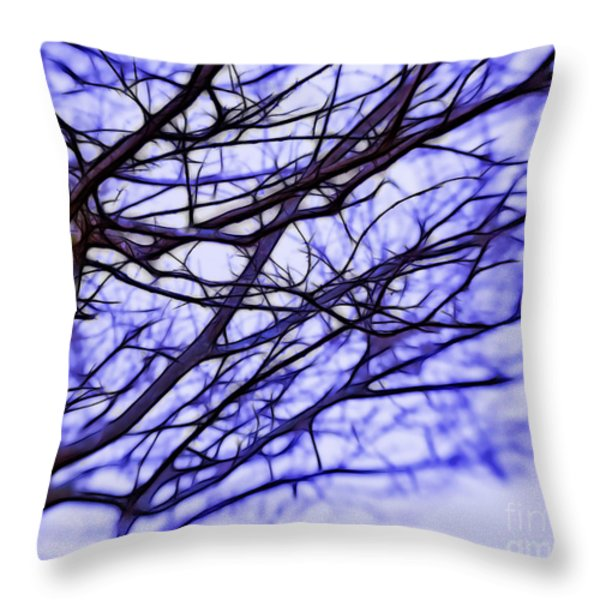 Branches In Winter Throw Pillow by Judi Bagwell