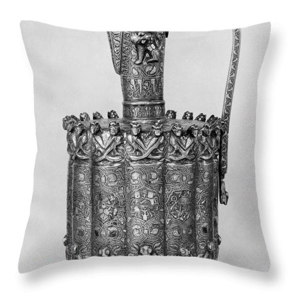 Brass Ewer, C1250 Throw Pillow by Granger