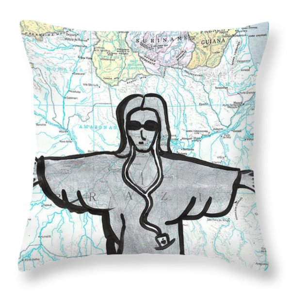 Brazil Throw Pillow by Jera Sky