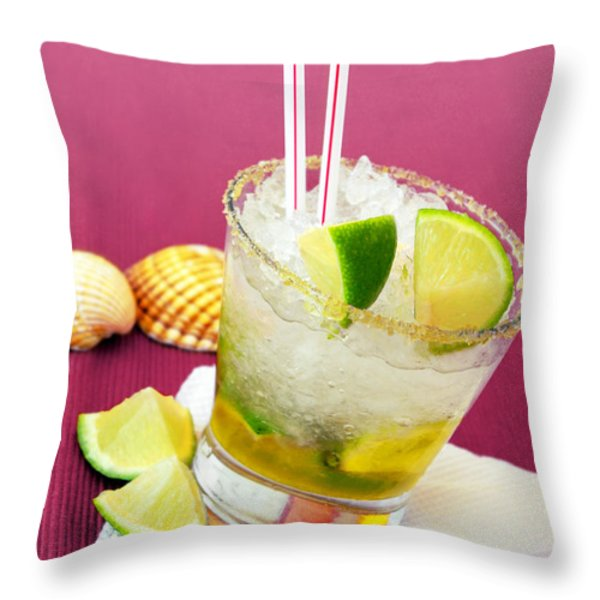 Brazilian Cocktail Throw Pillow by Carlos Caetano