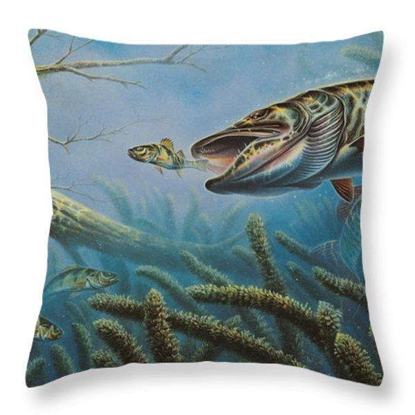 Breakline Hunter Musky Throw Pillow by JQ Licensing
