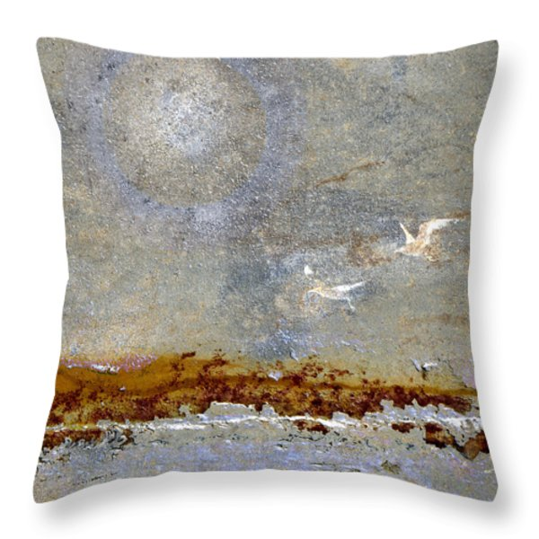 Breakwater Throw Pillow by Carol Leigh