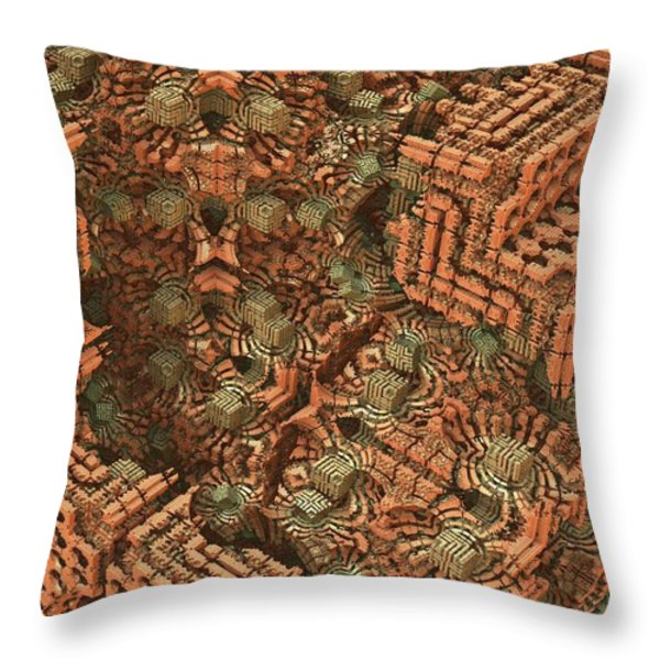 Bricks and Mortar Throw Pillow by Lyle Hatch