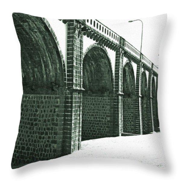 Bridge In Ribeira Grande Throw Pillow by Gaspar Avila