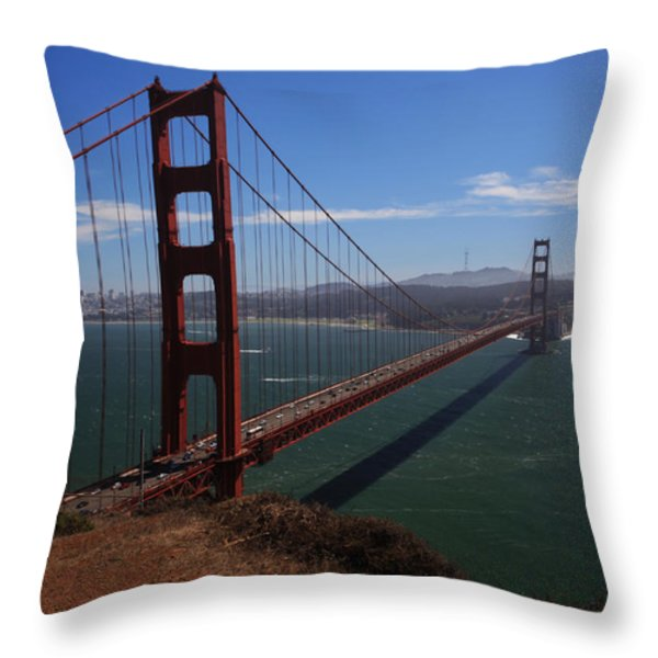 Bridge of Dreams Throw Pillow by Laurie Search