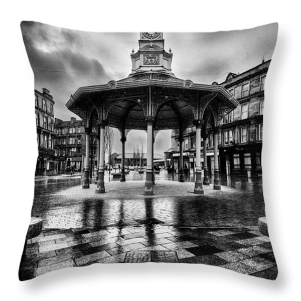 Bridgeton Cross Bandstand Glasgow Throw Pillow by John Farnan