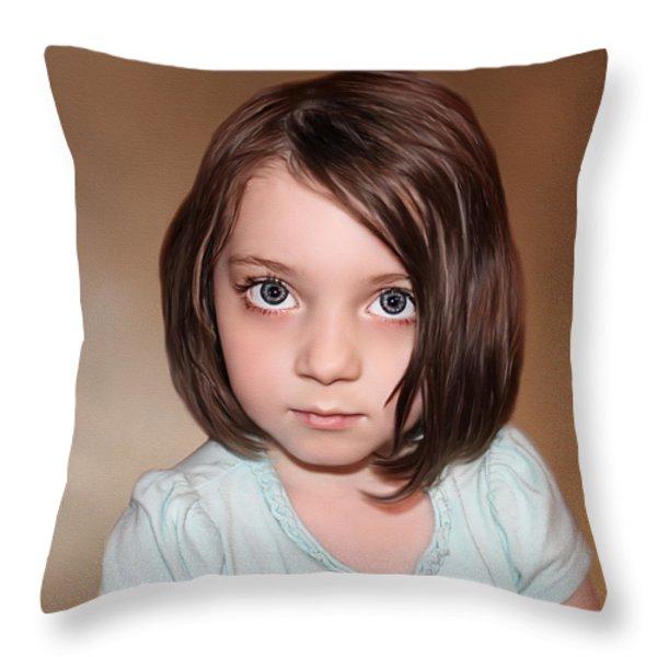 Bright Eyes Throw Pillow by Tom Schmidt