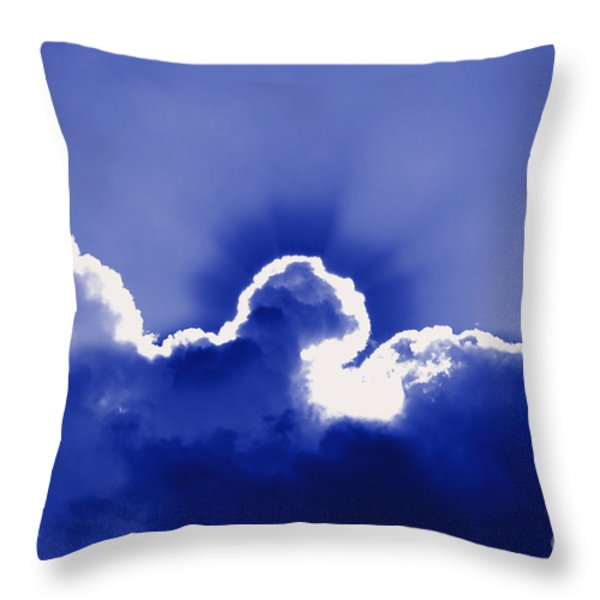 Brilliant Blue Throw Pillow by Al Powell Photography USA