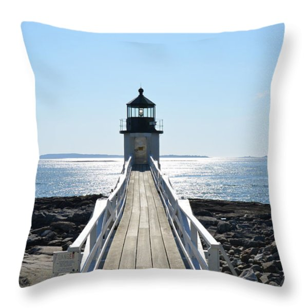 Brilliant Light Throw Pillow by Corinne Rhode