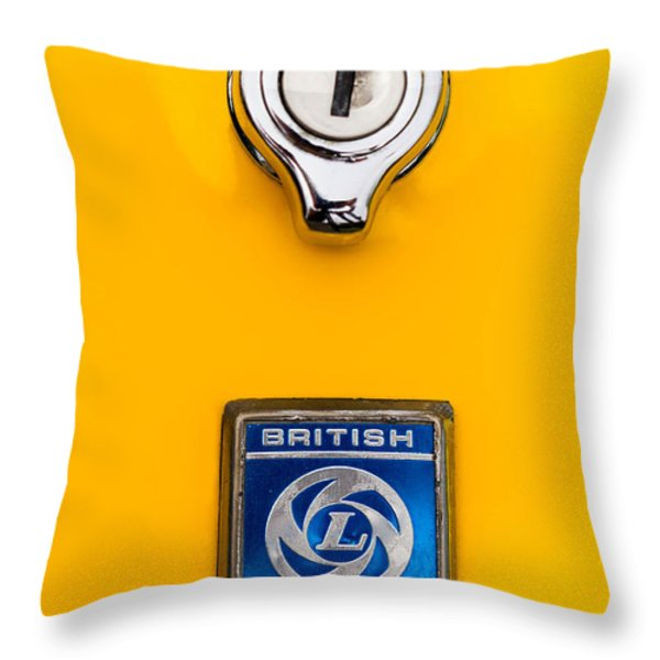 British Leyland Throw Pillow by Jerry Fornarotto