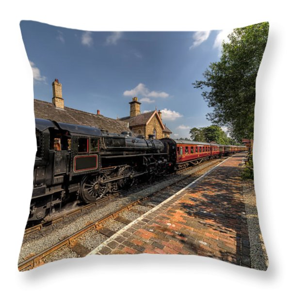 British Locomotion Throw Pillow by Adrian Evans