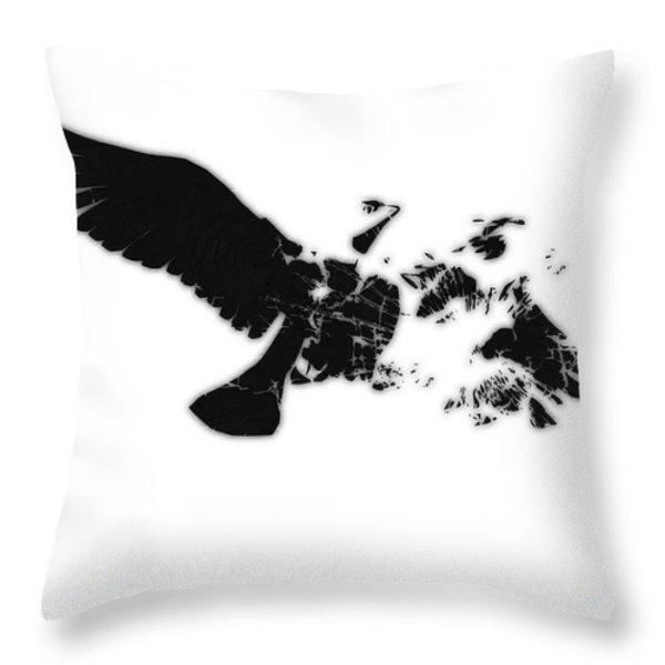 Broken Peace Throw Pillow by Pixel Chimp