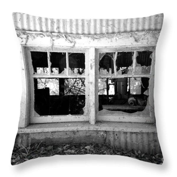 Broken Windows Throw Pillow by Cheryl Young
