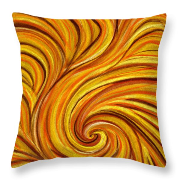 Brown Swirl Throw Pillow by Hakon Soreide