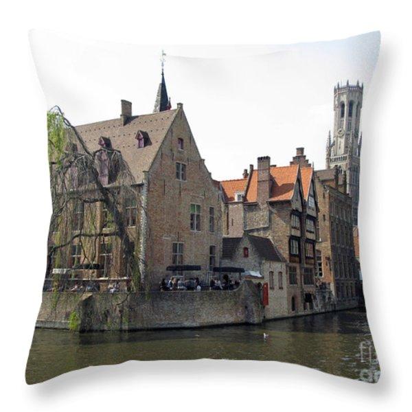 Brugge. Belgium. Spring 2011 Throw Pillow by Ausra Paulauskaite