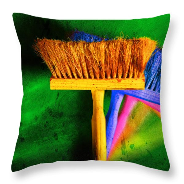 Brush Throw Pillow by Mauro Celotti