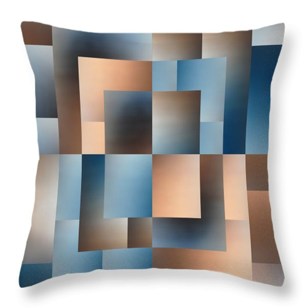 Brushed 14 Throw Pillow by Tim Allen