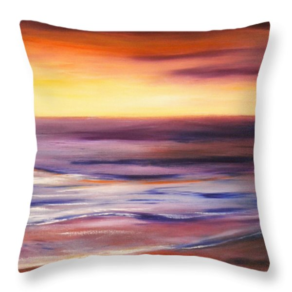 Brushed 9 Throw Pillow by Gina De Gorna