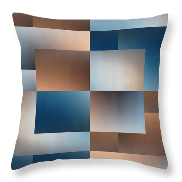 Brushed 9 Throw Pillow by Tim Allen