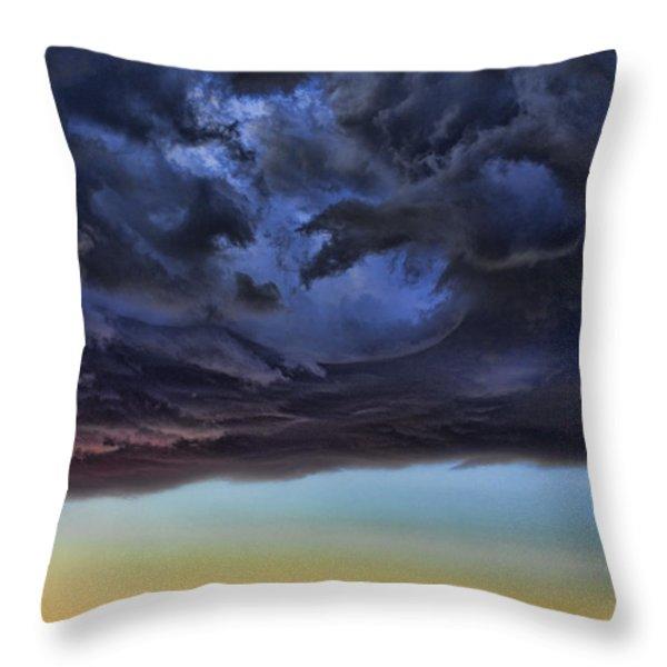 Bubble Cloud Throw Pillow by Douglas Barnard