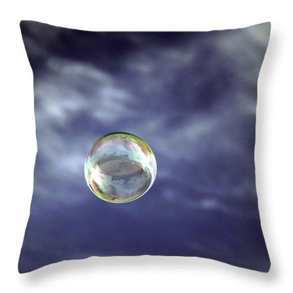 Bubble Self Portrait Throw Pillow by Dan McManus