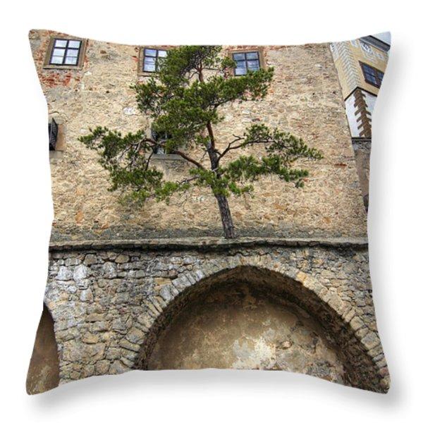 Buchlov Castle Throw Pillow by Michal Boubin