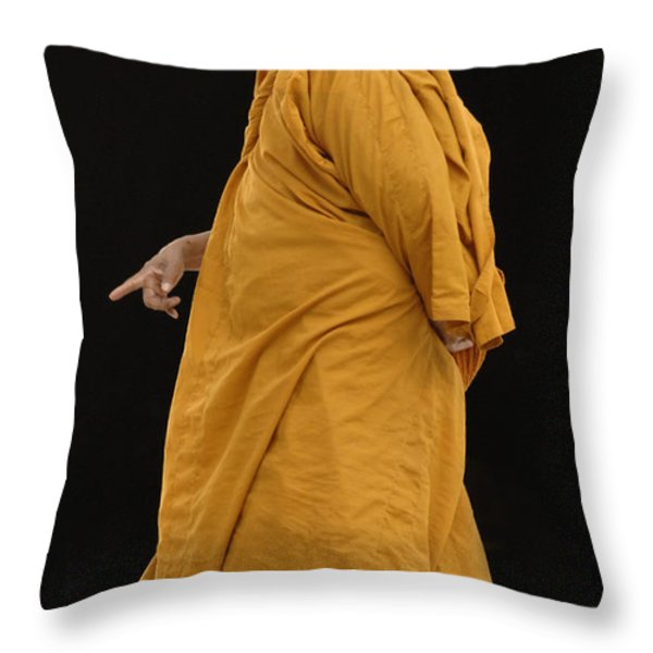 Buddhist Monk 3 Throw Pillow by Bob Christopher