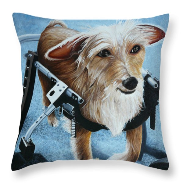Buddy's Hope Throw Pillow by Vic Ritchey