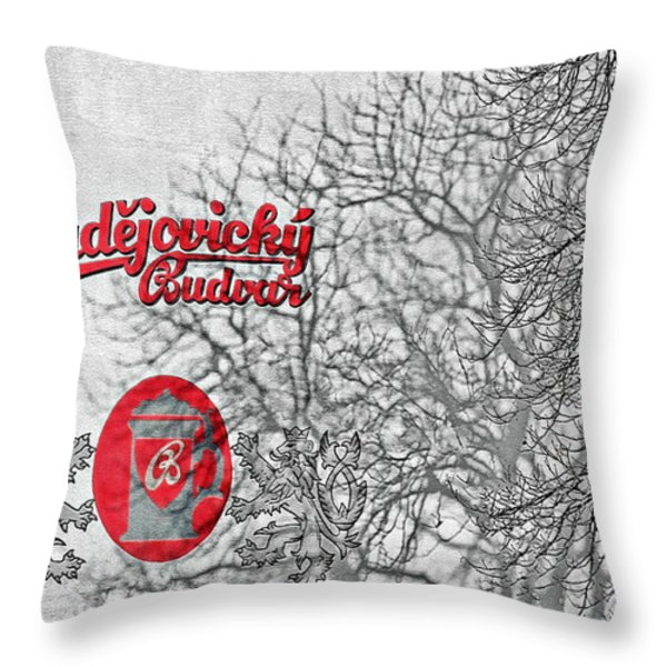 Budweis Czech Republic - 700 years of Brewing Tradition Throw Pillow by Christine Till