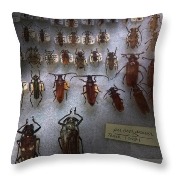 Bug Collector - So What's Bugging You Throw Pillow by Mike Savad