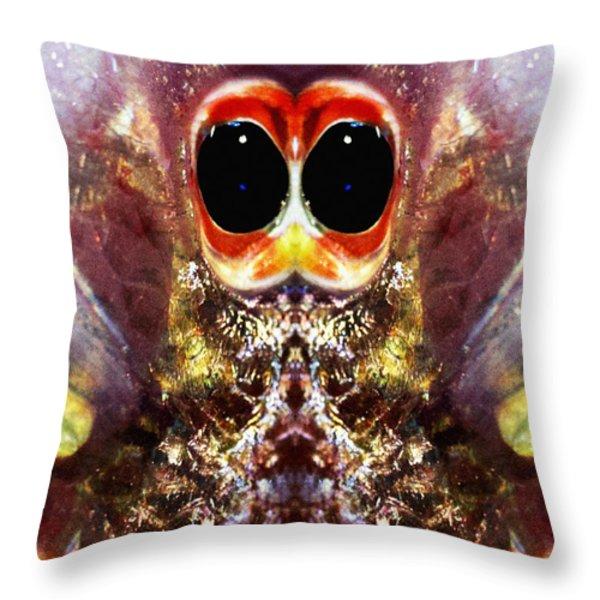 Bug Eyes Throw Pillow by Skip Nall