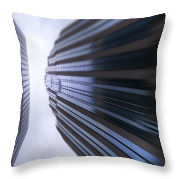 Buildings Abstract Throw Pillow by Svetlana Sewell