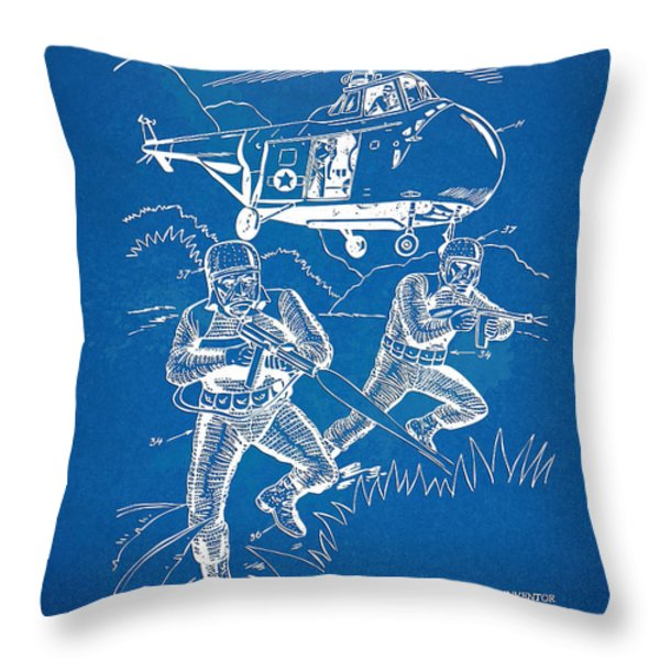 Bulletproof Patent Artwork 1968 Figure 15 Throw Pillow by Nikki Marie Smith
