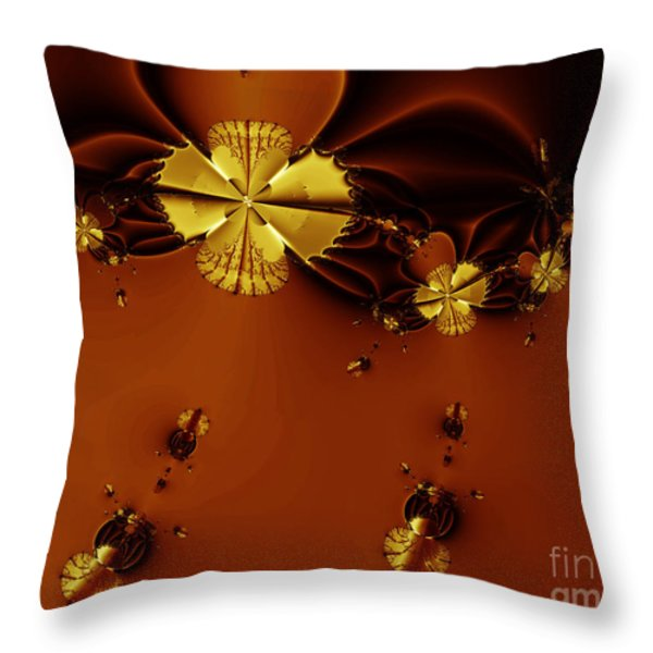 Bumble Beez Over Chocolate Lake . S19 Throw Pillow by Wingsdomain Art and Photography