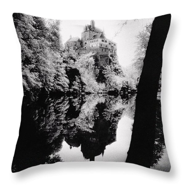 Burg Kriebstein Throw Pillow by Simon Marsden