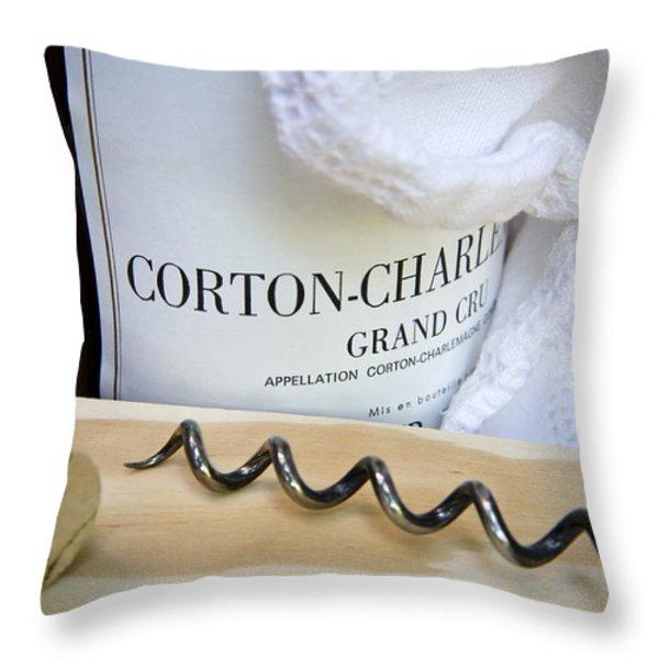 Burgundy Wine Throw Pillow by Frank Tschakert