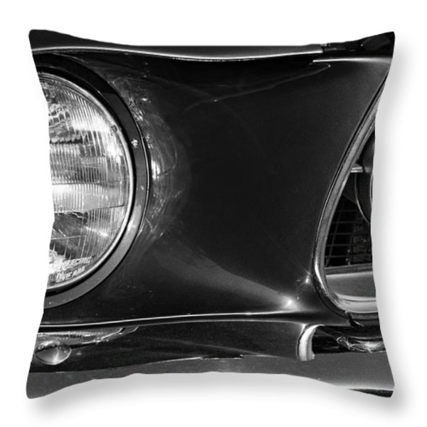 Burnt Rubber Throw Pillow by Luke Moore