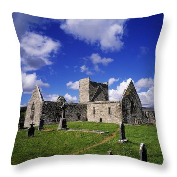 Burrishoole Friary, Co Mayo, Ireland Throw Pillow by The Irish Image Collection