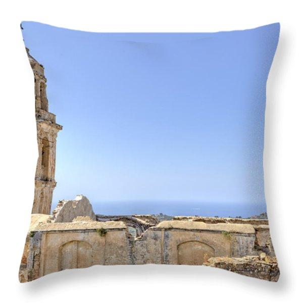 Bussana Vecchia - Liguria - Italy Throw Pillow by Joana Kruse