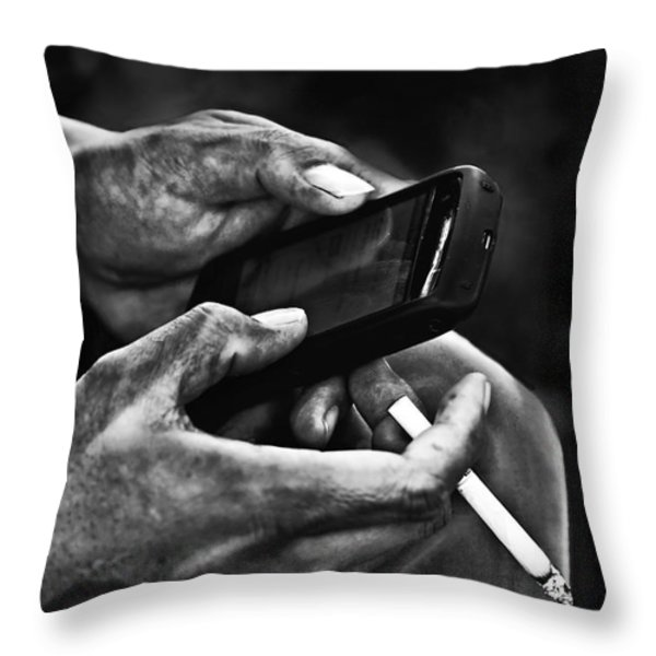 Busy Hands Throw Pillow by Charuhas Images