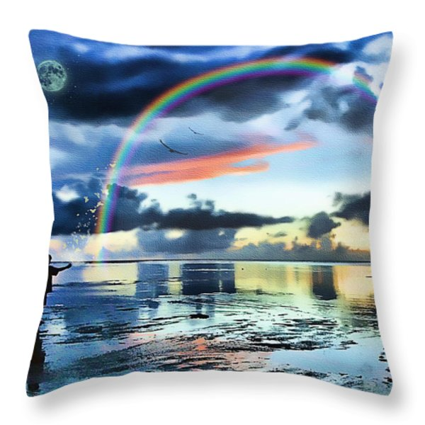 Butterfly Heaven Throw Pillow by Tom Schmidt
