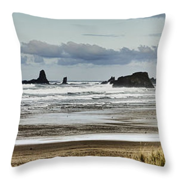 By The Sea - Seaside Oregon State  Throw Pillow by James Heckt