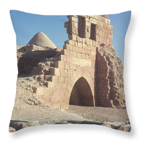 Byzantine Ruins Throw Pillow by Photo Researchers, Inc.
