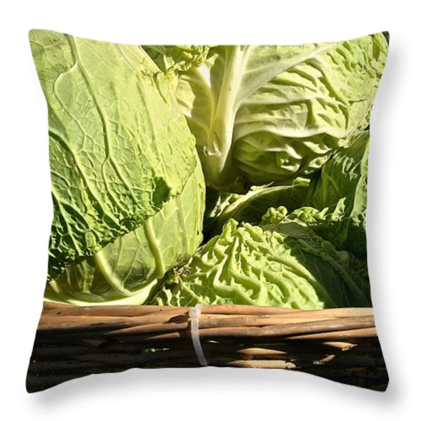 Cabbage Heads Throw Pillow by Susan Herber