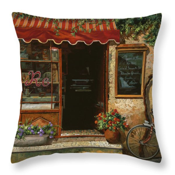 caffe Re Throw Pillow by Guido Borelli