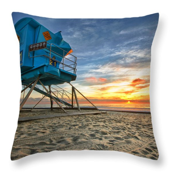 California Dreaming Throw Pillow by Larry Marshall