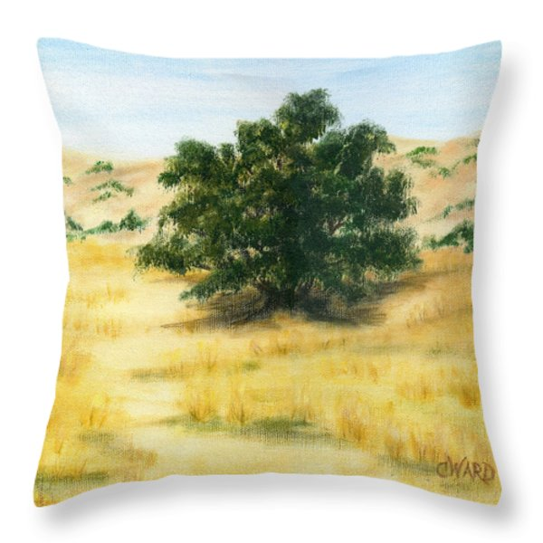California Oak Throw Pillow by Colleen Ward