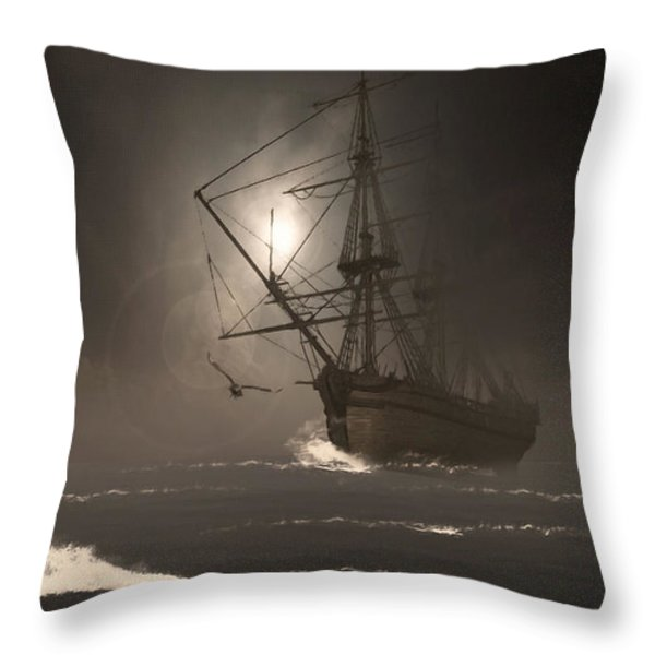 Call Of The Hoot Throw Pillow by Lourry Legarde
